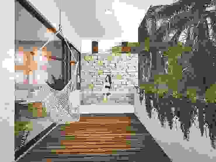 V ALIVE Pasillos, vestíbulos y escaleras modernos de NATALIA MENACHE ARQUITECTURA Moderno