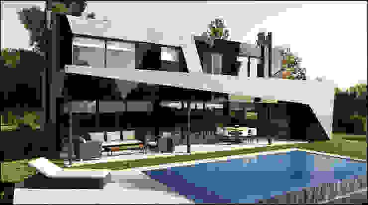 Moderne huizen van Maximiliano Lago Arquitectura - Estudio Azteca Modern