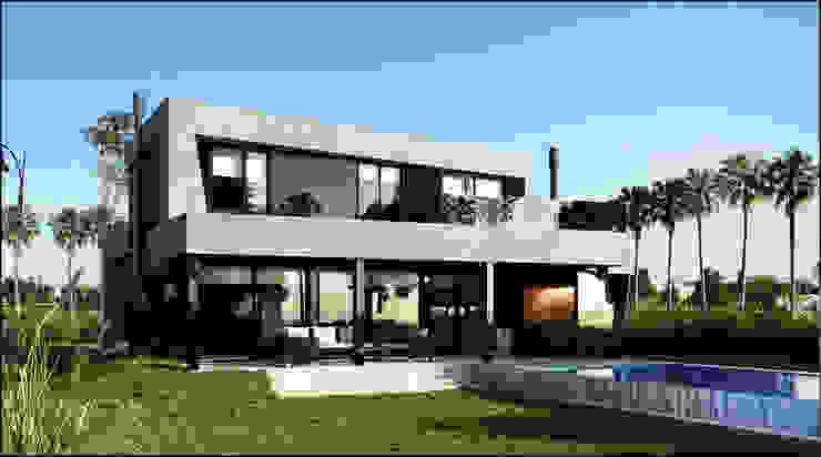190 Casas estilo moderno: ideas, arquitectura e imágenes de Maximiliano Lago Arquitectura - Estudio Azteca Moderno