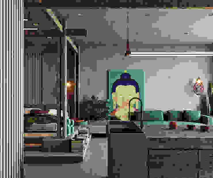 Entalcev Konstantin Rustic style living room