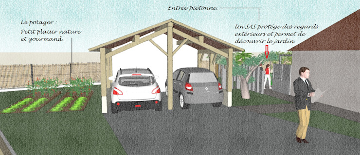 Modern garden by Conseils en aménagement paysagés Intérieurs/Extérieurs Modern