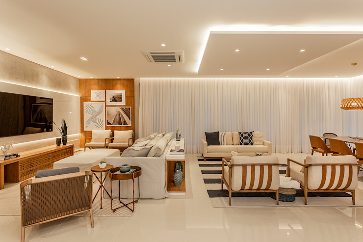 by Juliana Agner Arquitetura e Interiores Tropical Wood Wood effect