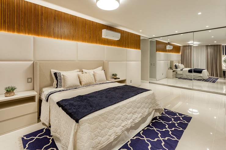 Modern Bedroom by Juliana Agner Arquitetura e Interiores Modern Wood Wood effect