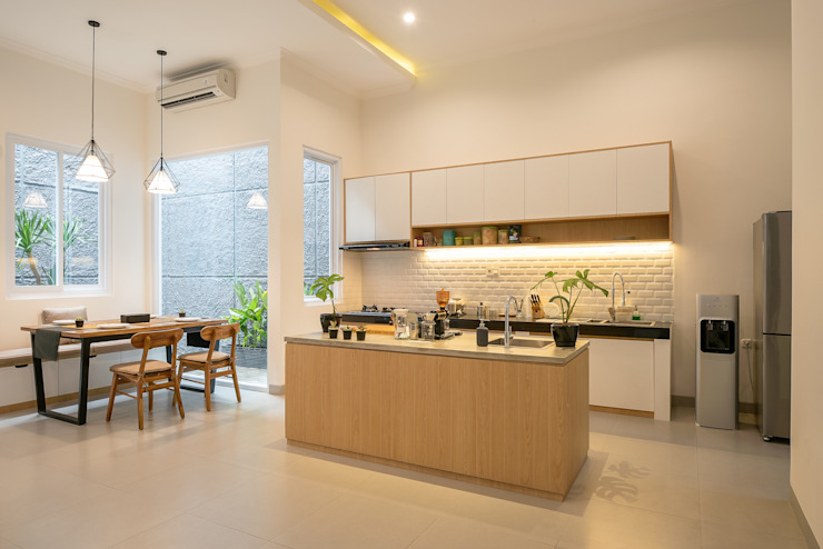 dapur modern PT Membangun Harapan Sukses Dapur Modern Kayu Lapis Wood effect