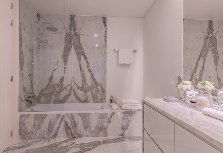 Modern Bathroom by FEMMA Interior Design Modern Marble