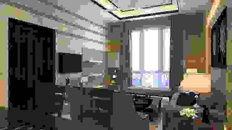 Living Room Manglam Decor Modern corridor, hallway & stairs
