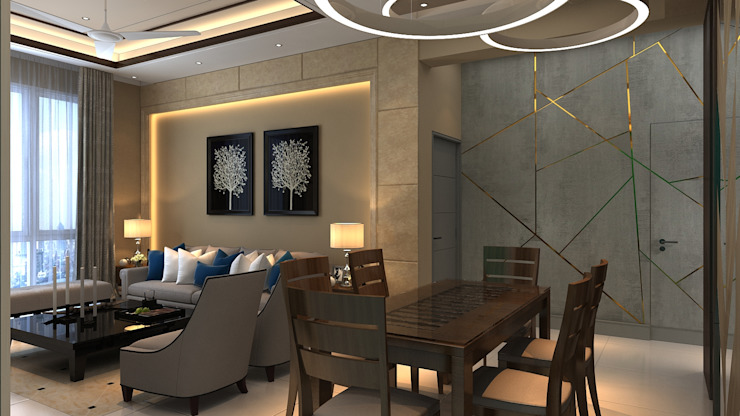 Living Room Design Manglam Decor Modern dining room