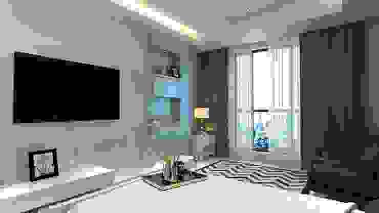 TV unit wall Manglam Decor Modern style bedroom