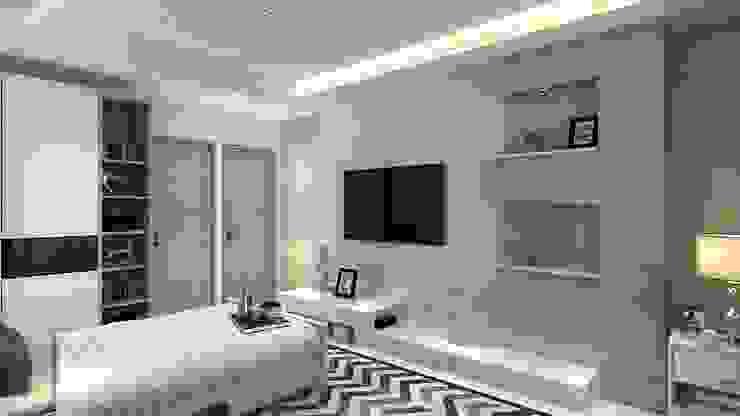 3 BHK Residential design Manglam Decor Modern style bedroom