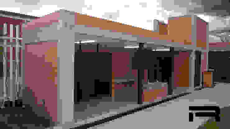 Módulo de baños Estudios y despachos minimalistas de Rabell Arquitectos Minimalista