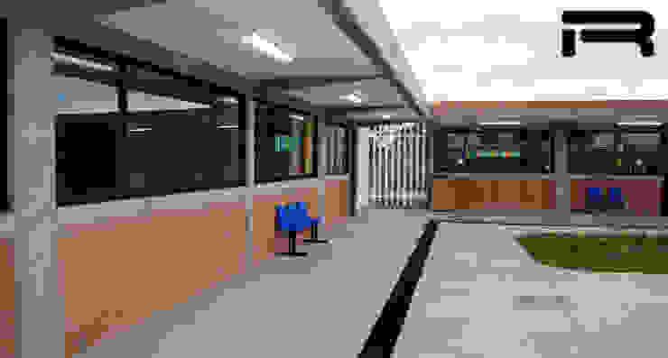Pasillo cubierto Estudios y despachos minimalistas de Rabell Arquitectos Minimalista