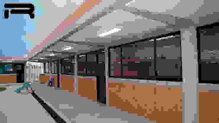 Vista general de los salones Estudios y despachos minimalistas de Rabell Arquitectos Minimalista