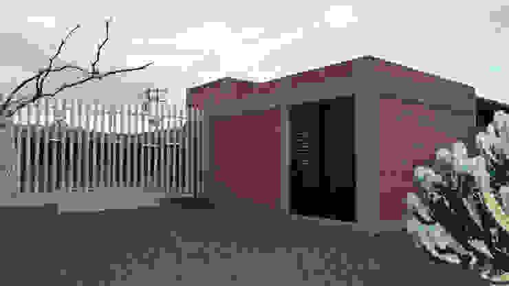 Acceso al preescolar Estudios y despachos minimalistas de Rabell Arquitectos Minimalista