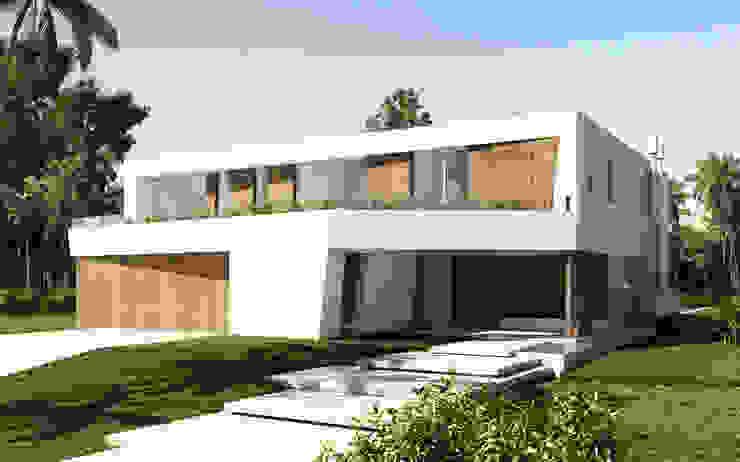 Casa Diagono Casas modernas: Ideas, imágenes y decoración de Maximiliano Lago Arquitectura - Estudio Azteca Moderno