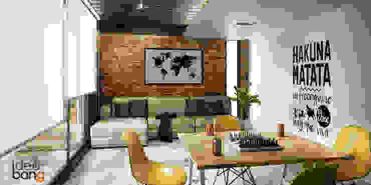 Minilofts: Salas de estilo  por IdeaBang, Industrial