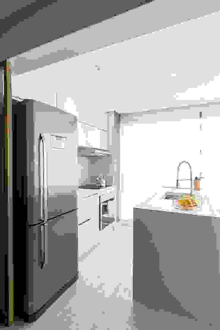 Mirá Arquitetura Petites cuisines MDF Blanc