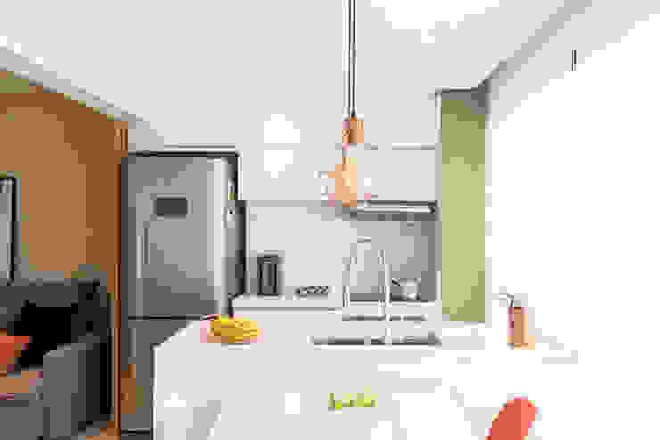 Mirá Arquitetura Petites cuisines Marbre Blanc
