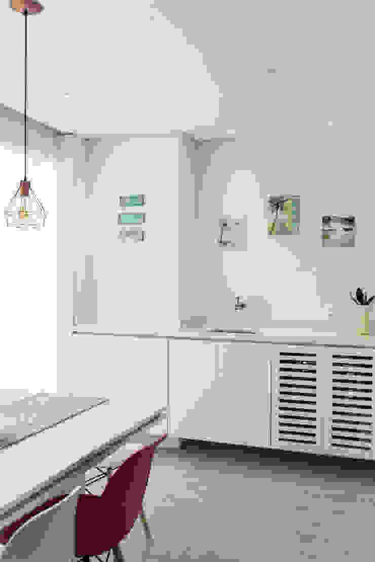 Mirá Arquitetura Balcon Marbre Blanc