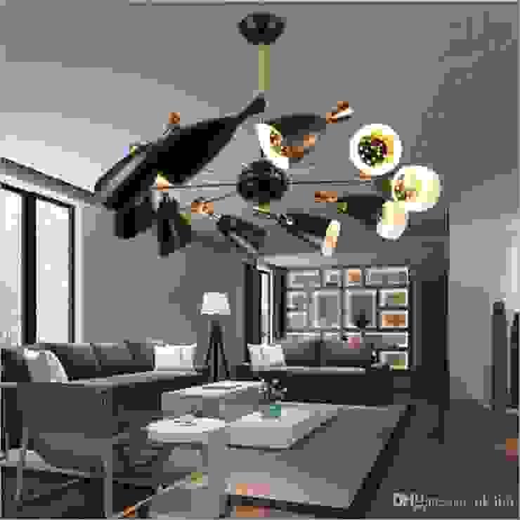 ELEGANTE ILUMINACIÓN MAYA -LED Salones minimalistas Aluminio/Cinc Blanco