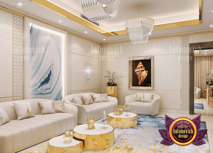 Proper Furniture Arrangement for a Small Living Room by Luxury Antonovich Design