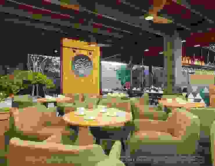 Thiết kế nội thất quán Ecopark Saigon Coffee & Restaurant Hành lang, sảnh & cầu thang phong cách hiện đại bởi Thiết Kế Nội Thất - ARTBOX Hiện đại