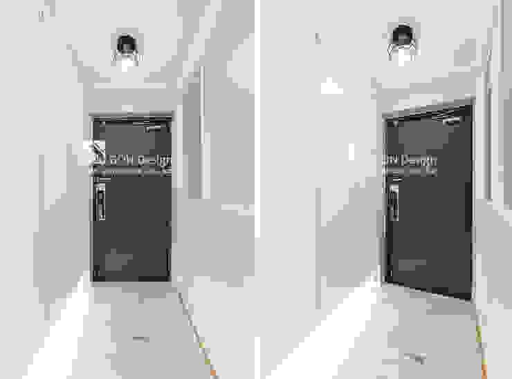 Pasillos, vestíbulos y escaleras de estilo moderno de 곤디자인 (GON Design) Moderno