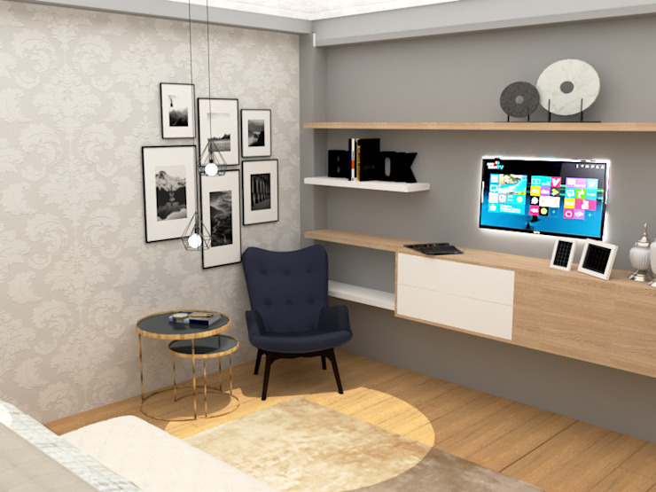 mobiliario de tv de CYNTHIA SALVATIERRA NOA Clásico Aglomerado
