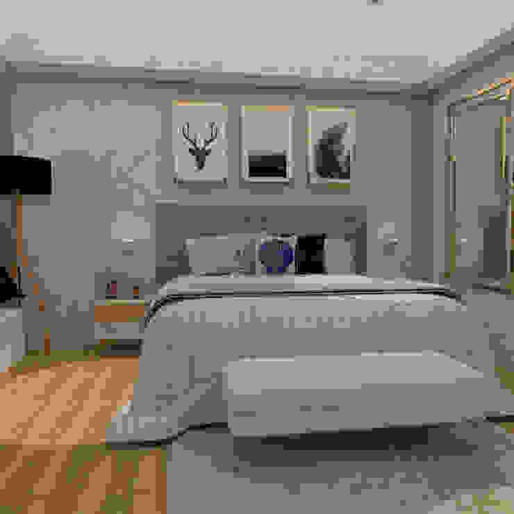 dormitorio de CYNTHIA SALVATIERRA NOA Clásico Textil Ámbar/Dorado