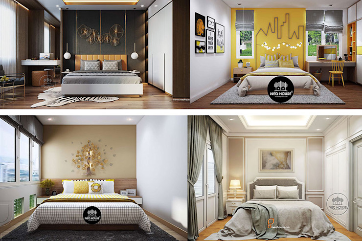 100+ Mẫu thiết kế trang trí tường phòng ngủ đẹp và hiện đại xu hướng mới nhất bởi NEOHouse