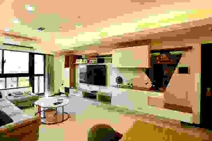公領域是為敞闊舒適的格局 根據 藏私系統傢俱 簡約風