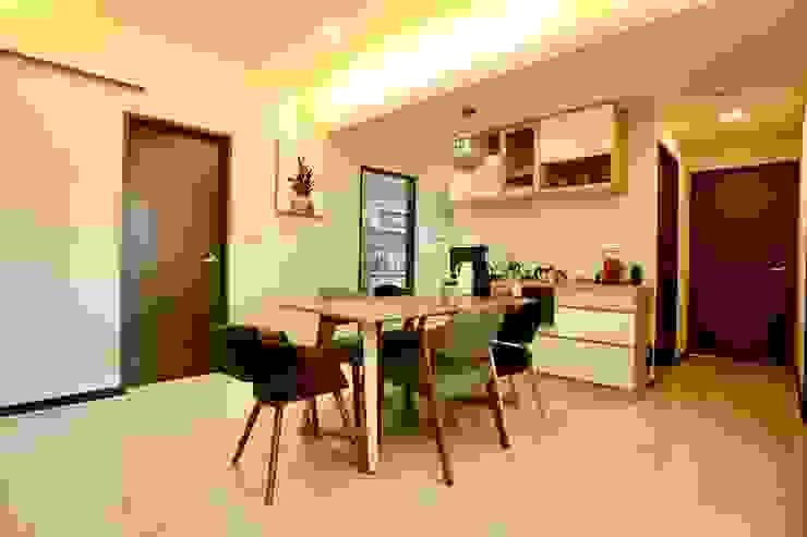 開放式餐廳 Minimalist dining room by 藏私系統傢俱 Minimalist