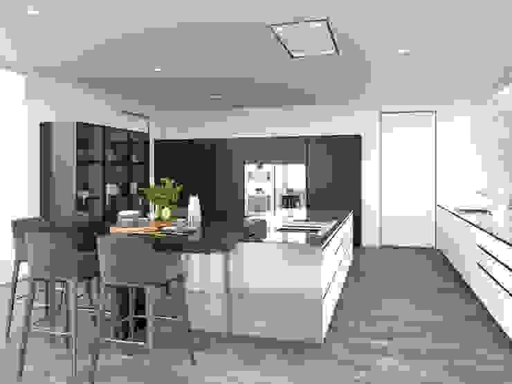 Render de la cocina desde otro punto de vista. de Proyecto 3D Valencia Renders Animaciones 3D Infografias Online