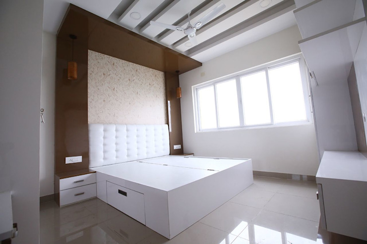 Master Cot Modern style bedroom by Interios by MK Design Modern
