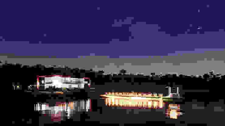 海灘太陽能藝術玻璃別墅之夜景 根據 盧博士虛擬實境設計工坊 熱帶風 玻璃