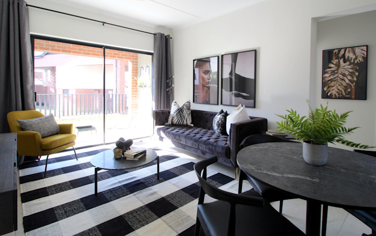 Staged Show Unit South African Modern living room by Design Air Modern
