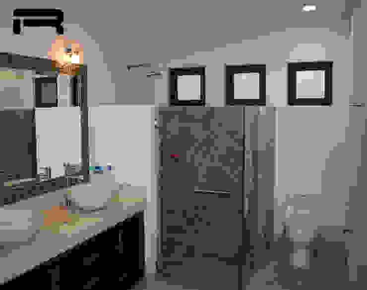 Baño secundario Baños eclécticos de Rabell Arquitectos Ecléctico