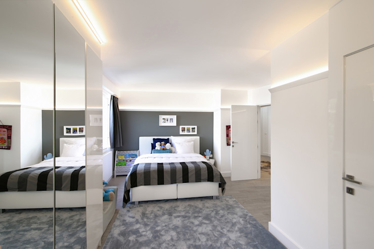 Moderne jongens slaapkamer Marcotte Style Moderne slaapkamers Kunststof Grijs
