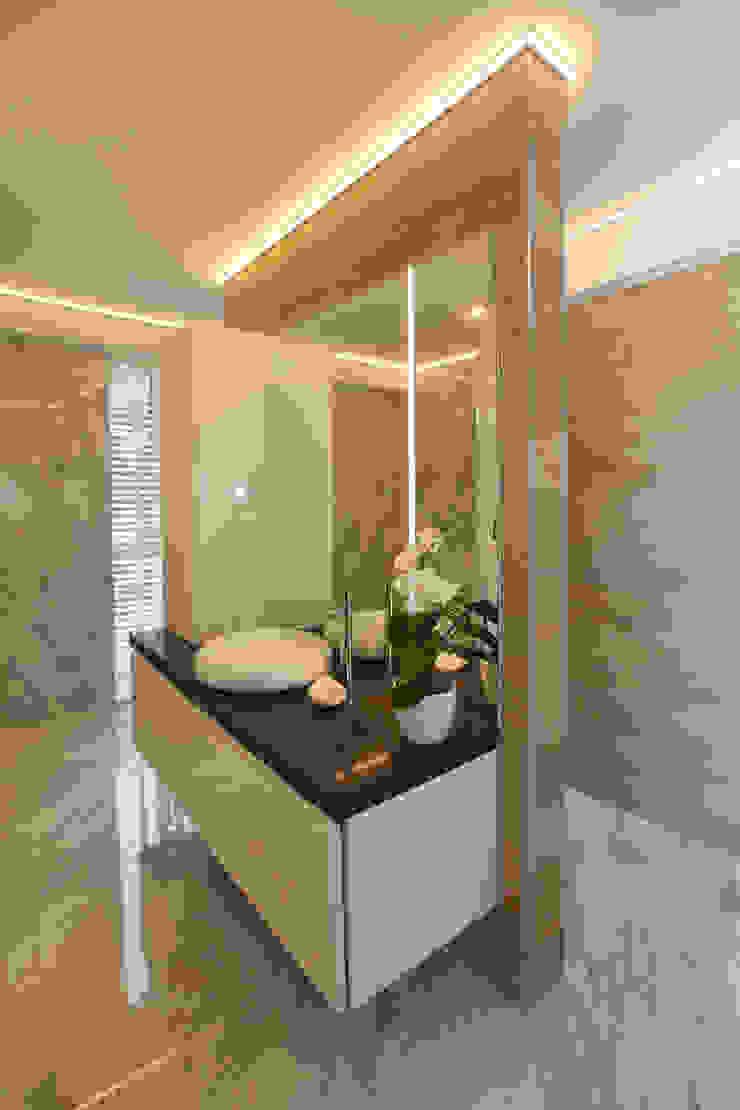 luxe badkamers Marcotte Style Moderne badkamers Keramiek Bruin