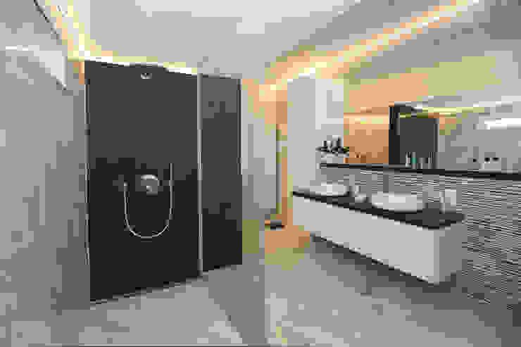 luxueuze badkamers Marcotte Style Moderne badkamers Keramiek Zwart