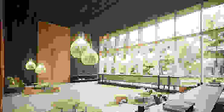 Lobby Interior Casas modernas: Ideas, imágenes y decoración de T + T arquitectos Moderno