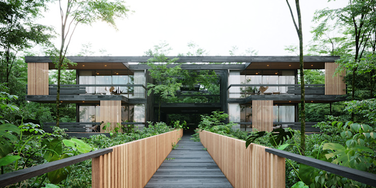 Habitaciones Deluxe Casas modernas: Ideas, imágenes y decoración de T + T arquitectos Moderno