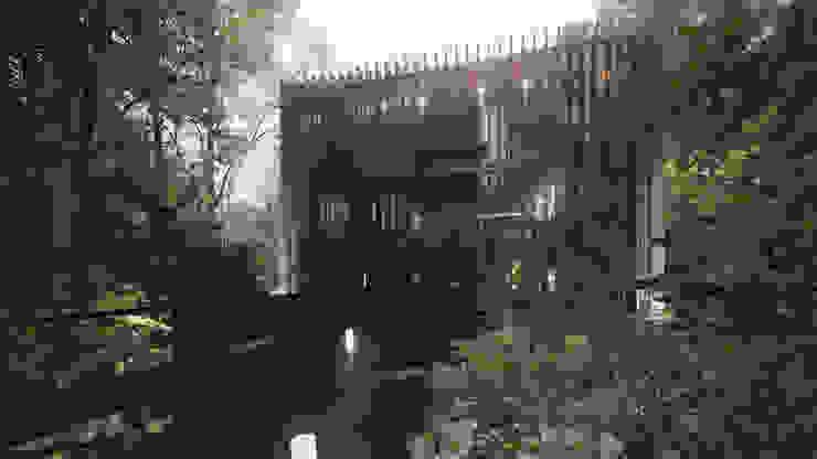Acceso Hoteles de estilo moderno de T + T arquitectos Moderno