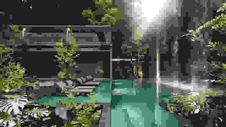 Spa Avá Hoteles de estilo moderno de T + T arquitectos Moderno
