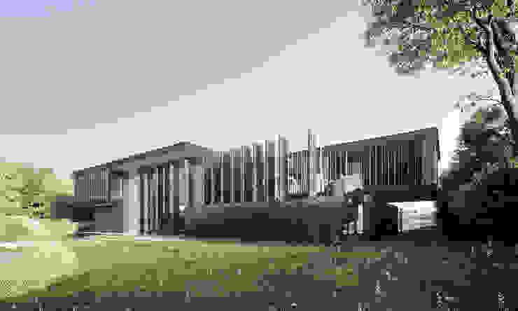 Iron House Exterior Casas minimalistas de T + T arquitectos Minimalista