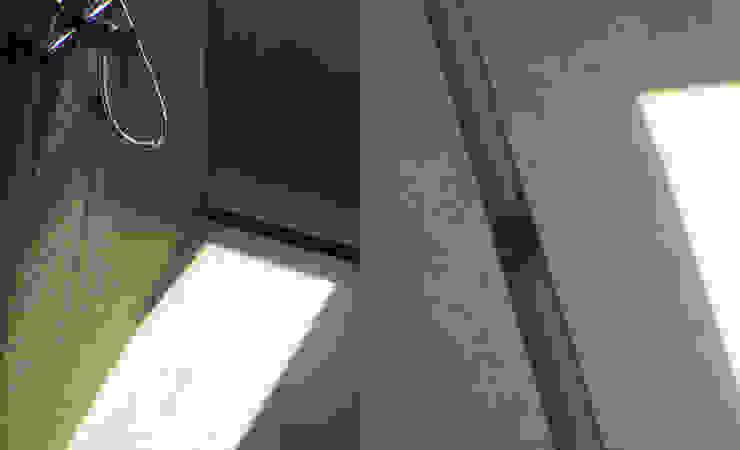 Detalle de la ducha Baños de estilo minimalista de CONSTRUCTORA DHTC LIMITADA Minimalista Cerámico