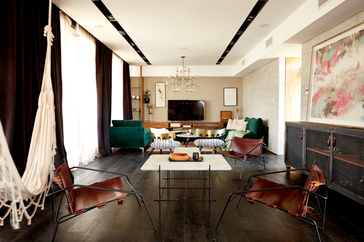 Casa El Canton: Livings de estilo  por T + T arquitectos,Minimalista