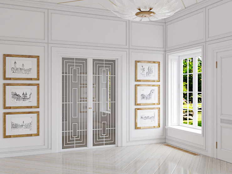 Classic style corridor, hallway and stairs by Дизайнер Ирина Оника Classic