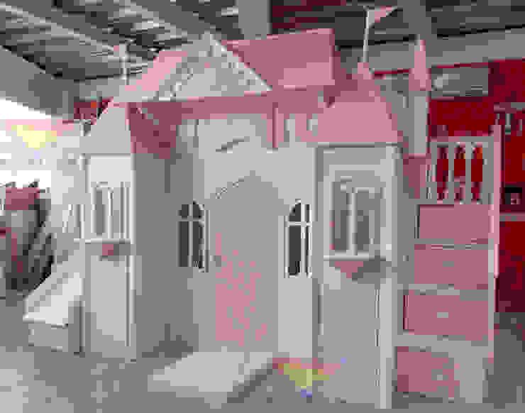Precioso castillo de camas y literas infantiles kids world Clásico Derivados de madera Transparente