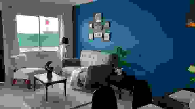 Interiorismo Fiby: Salas de estilo  por TRASSO ATELIER, Moderno