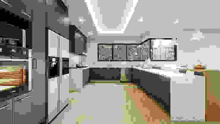 Proyecto Club Aleman Cocinas rústicas de Urbyarch Arquitectura / Diseño Rústico
